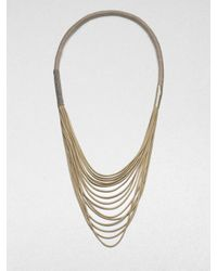 Brunello Cucinelli | Metallic Suede Necklace | Lyst