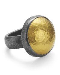Gurhan - Metallic Amulet Edge Ring - Lyst