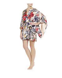 Jenny Packham | Pink Printed Silk Kimono | Lyst