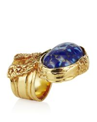 Saint Laurent | Blue Arty Oval Ring | Lyst