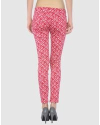Love Moschino - Red Casual Pants - Lyst