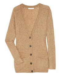 Sandro | Natural Granny Ribbed Knitted Cardigan | Lyst