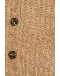Sandro - Natural Granny Ribbed Knitted Cardigan - Lyst