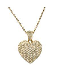 Swarovski   Metallic Puffed Heart Pendant   Lyst