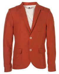 Topman | Orange Red Safari Linen Skinny Blazer for Men | Lyst