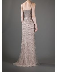 Valentino | Pink Beaded Gown | Lyst