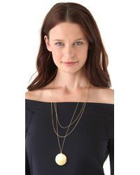 Gorjana - Metallic Ella Layer Locket Necklace - Lyst
