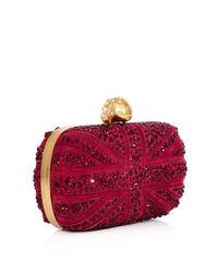 Alexander McQueen   Red Swarovski Crystal Union Jack Clutch   Lyst