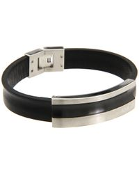Breil - Cave Leather Bracelet with Black Ip Tag for Men - Lyst