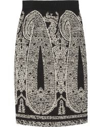Giambattista Valli | Gray Paisley Jacquard Skirt | Lyst