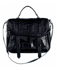 Proenza Schouler | Black Ps1 Extra Large Crocodile Bag | Lyst