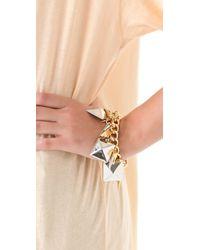 Fallon - Metallic Extra Large Stud Charm Bracelet - Lyst