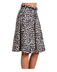 kate spade new york - Black Lillith Leopard-print Skirt - Lyst