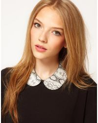ASOS | Gray Snake Print Collar Necklace | Lyst