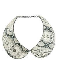 ASOS | Gray Snake Print Collar Necklace | Lyst
