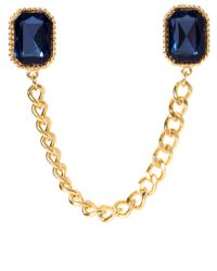 ASOS - Metallic Gem Chain Collar Brooch - Lyst