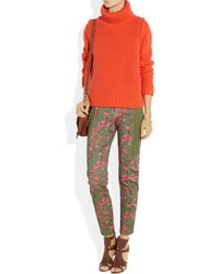 Thakoon Addition | Cameo Green Flower Print Trousers | Lyst