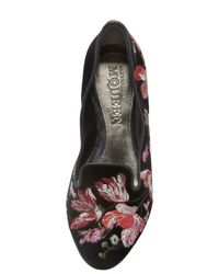 Alexander McQueen | Floralembroidered Smoking Slipper | Lyst