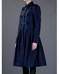 Burberry | Blue Toggle Coat | Lyst