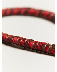 Alyssa Norton - Red Unisex Braided Silk and Suede Bracelet - Lyst