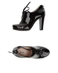 Miu Miu   Black Laced Shoes   Lyst