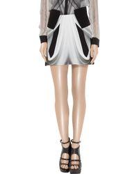 Dion Lee - Black Printed Silk-georgette Mini Skirt - Lyst