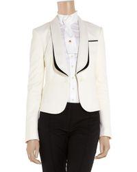 Jason Wu | White Wool-blend Tuxedo Jacket | Lyst