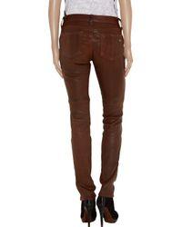 Rag & Bone - Brown Skinny Leather Pants - Lyst
