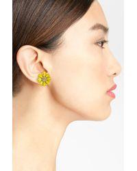 kate spade new york | Yellow Daisy Stud Earrings | Lyst