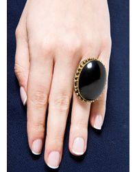 Mango - Black Stone Ring - Lyst