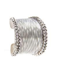 Mango | Metallic Chains Embossed Cuff | Lyst
