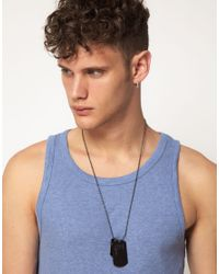 River Island - Gray Dog Tag Necklace for Men - Lyst