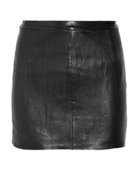 Zadig & Voltaire - Black Leather Mini Skirt - Lyst