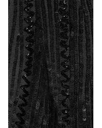Alberta Ferretti   Black Sequined Tulle Top   Lyst