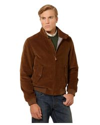Brooks Brothers - Brown Corduroy Bomber for Men - Lyst
