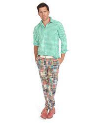 Brooks Brothers   Multicolor Clark Plainfront Patchwork Madras Pants for Men   Lyst