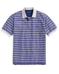 Brooks Brothers - Blue St Andrews Links Framed Multi Stripe Polo for Men - Lyst