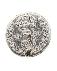 Husam El Odeh - Metallic Broken Coin Earring Silver - Lyst