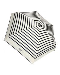 Jean Paul Gaultier | Natural Striped Folding Umbrella Creamnavy | Lyst