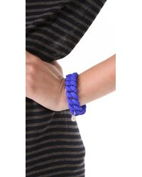 Marc By Marc Jacobs - Blue Rubber Turnlock Bracelet - Lyst