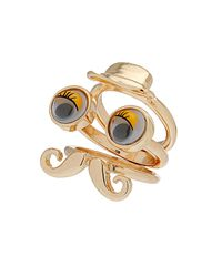 TOPSHOP | Yellow Googly Eye Gentlemen Ring | Lyst