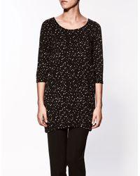 Zara | Black Stars T-shirt | Lyst