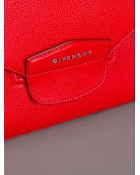 Givenchy   Red Antigona Envelope Clutch   Lyst