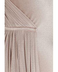 Amanda Wakeley | Purple Silksatin and Mesh Gown | Lyst