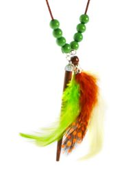 ASOS - Asos Neon Feather Necklace for Men - Lyst