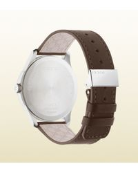Gucci | Black G-timeless Slim Stainless Steel And Leather Watch for Men | Lyst