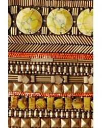 Matthew Williamson   Brown Embellished Suede Clutch   Lyst