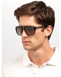 Gucci | Blue Acetate Aviator Sunglasses for Men | Lyst