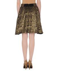 Alice + Olivia | Brown Knee Length Skirt | Lyst
