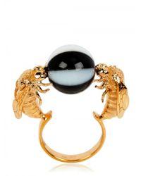 Delfina Delettrez - Black Double Bee Ring - Lyst